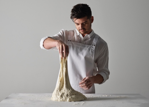 Chef making dough at Morgan Glen Iris