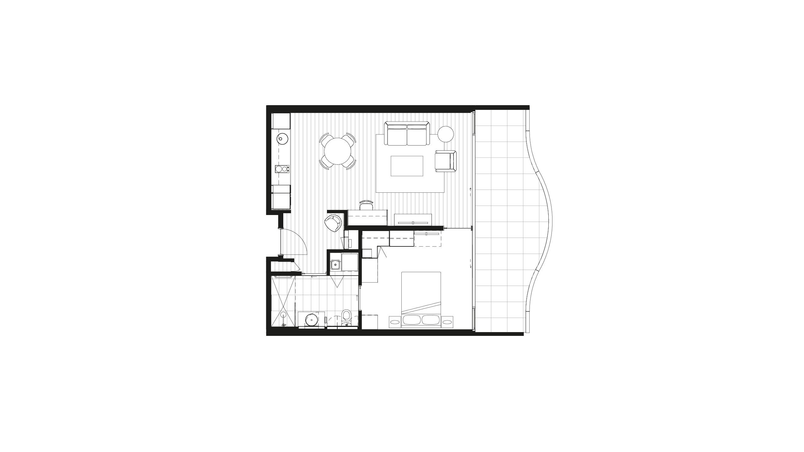 Floorplan - Apartment 101 at Morgan Glen Iris