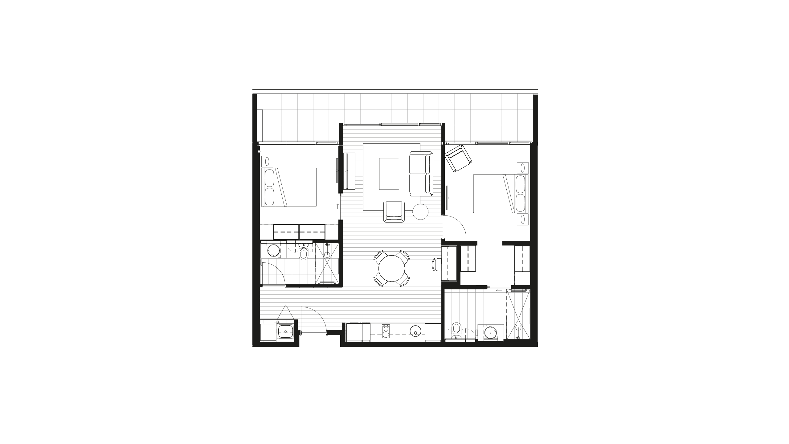Floorplan - Apartment 104 at Morgan Glen Iris