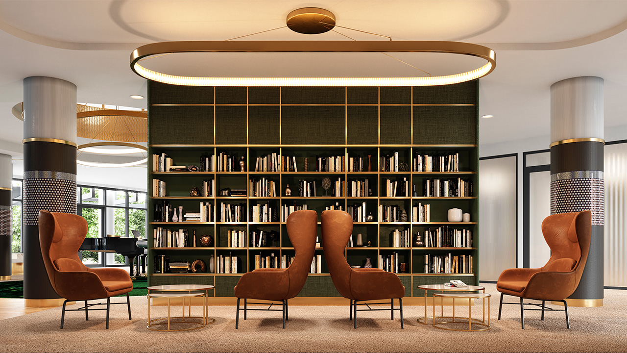 Library (artist's impression) at Morgan Glen Iris